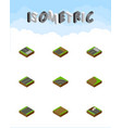 isometric way set of bitumen footer unfinished vector image vector image