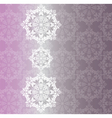 Lace snowflakes ornament pattern vector image