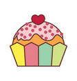 love cupcake valentine gift graphic vector image vector image