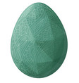 low poly art with isolated green decorative egg vector image