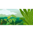 lush plant life vector image vector image