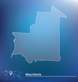 Map of Mauritania vector image