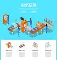 mechanical conveyor isometric 3d poster vector image