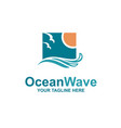 ocean waves emblem vector image
