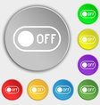 off icon sign Symbol on eight flat buttons vector image vector image
