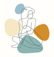 outline woman body with blob shape vector image vector image