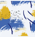 paint blue yellow brush stroke fashion abstract vector image vector image