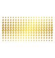 pie chart golden halftone grid vector image vector image