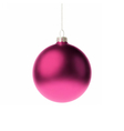 Pink 3d christmas Bauble vector image