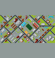plan city vector image