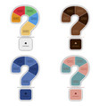 question mark infographic report template made vector image