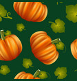realistic detailed 3d pumpkins seamless pattern vector image vector image