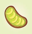 realistic fresh avocado snack vegan food vector image