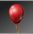 realistic red balloon with ribbon isolated vector image vector image