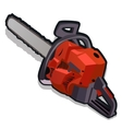 Red electric saw working tools series vector image