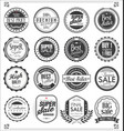 retro vintage badges and labels collection 1 vector image vector image