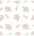 roses and leaves vector image vector image