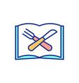 school menu rgb color icon vector image