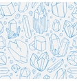 seamless pattern Hand drawn crystals vector image