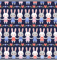 seamless with cute hares vector image vector image