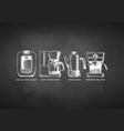 set coffee machines vector image vector image