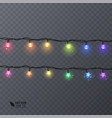 set of colorful garlands with shape of stars vector image vector image