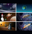 set space background vector image