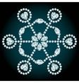 Snowflake diamond composition vector image vector image
