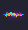 sound wave gradient colorful digital equalizer vector image