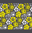 summer yellow color floral seamless pattern vector image vector image