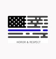 thin blue line usa flag police symbol vector image