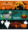 Traditional Halloween invitation banners with text vector image vector image