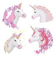 unicorn icon isolated on white head vector image vector image