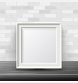 vertical square frame mock up good for vector image vector image