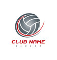 volleyball logo vector image vector image