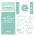 wedding invitation set 3 380 vector image vector image