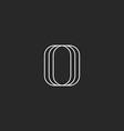 Letter O logo modern monogram black and white vector image