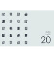 Set of paper icons vector image