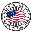 Stamp with flag of the USA Made in the USA