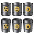 oil barrels set vector image