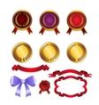 set for design ribbons medals vector image
