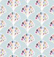 Abstract seamless pattern with shell vector image vector image