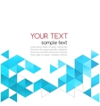Abstract template background with triangle vector image vector image