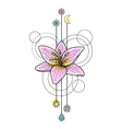 Abstract Watercolor Lily Tattoo vector image vector image