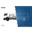 air fuel truck in outline style vector image vector image