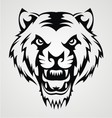 Angry Tiger Face Tribal vector image vector image