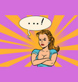 angry woman emotions girls vector image