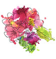 apple blossoms vector image