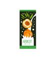 apricot milk logo original design label for vector image vector image