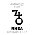 astrology asteroid rhea vector image vector image